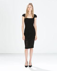 画像 1 の フィットギピュールレースドレス ザラから