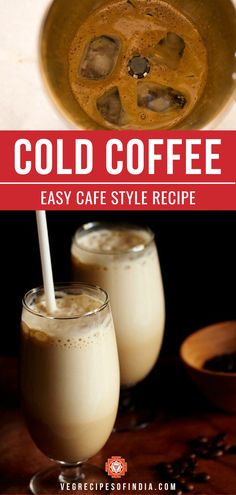 Are you a coffee lover? Then you have to try this recipe for thick and creamy cold coffee! This recipe shows you how to make one of my favorite coffee recipes that uses instant coffee, milk, sugar, water, and ice. That's it! This homemade easy drink is great on a hot morning or later in the afternoon where normal coffee just doesn't sound good. Try this refreshing drink today! #drinks #coffee #coldcoffee #worldcuisine #refreshing #vegetarian Veg Recipes Of India, Indian Food Recipes, Vegetarian Recipes, Cooking Recipes, Ethnic Recipes, Cafe Coffee Day, Indian Drinks, Coffee Milkshake, Coffee Recipes