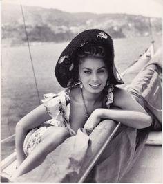 Sophia Loren Looking Lovely on A Yacht Original Mid 1950s Press Photo