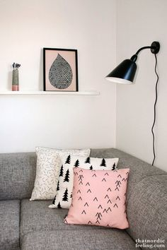 #pink #interiors #living #livingroom #lamp #sofà #texture #white #decor #walkingdreamdiy #pinkdecor