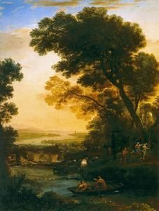 Claude Lorrain - Ideal Landscape with the Flight into Egypt
