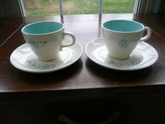 Taylor Smith Taylor Boutonniere Coffee Tea Cups & Saucers