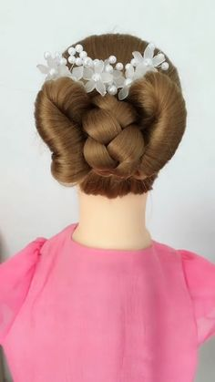 styles for wedding down hairstyles indian videos Hairstyle Tutorial 789 Long Face Hairstyles, Girl Hairstyles, Braided Hairstyles, Hairstyles Videos, Front Hair Styles, Curly Hair Styles, Hairstyle For Girls Video, Wedding Hairstyles Tutorial, Hair Upstyles