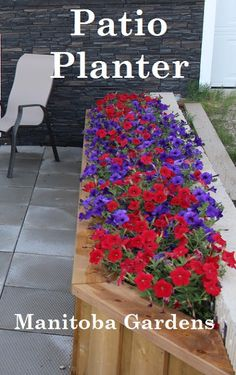 Easy DIY build your own patio planters for less money