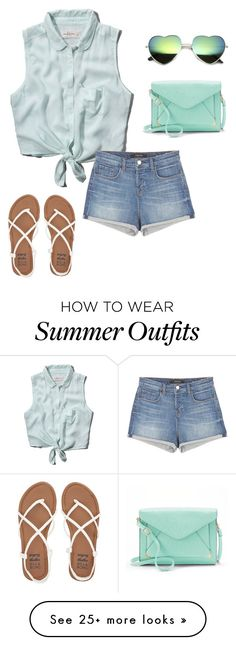 """Another Summer Outfit"" by ashling22 on Polyvore featuring Abercrombie & Fitch, J Brand, Billabong and Apt. 9"