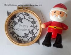 Merry Christmas framed with Ivy counted by CraftwithCartwright £2.40