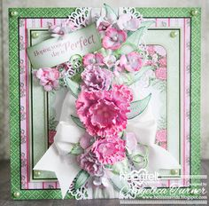 Camelia Carnation card by Angelica Turner. #HeartfeltCreations @hcofficial