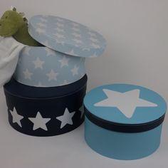 Pappboxar rund- blå 3-pack 1 HemmetsHjarta