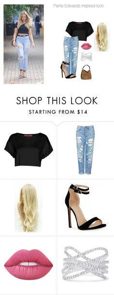 """""""Perrie Edwards Inspired look"""" by wifesauce ❤ liked on Polyvore featuring beauty, Boohoo, Topshop, Lime Crime, Effy Jewelry and UGG"""