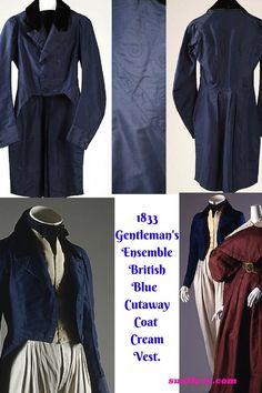 Typical Gentleman's Ensemble, British. Historical Clothing, Victorian Era, Gentleman, British, Coat, How To Wear, Jackets, Inspiration, Clothes