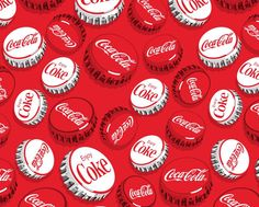 Cocoa Cola Bottle Caps Fabric This Coke bottle cap fabric is the perfect addition when using our coke panel. The big caps measure x Coca Cola Vintage, Garrafa Coca Cola, Coca Cola Decor, Cocoa Cola, Always Coca Cola, Coca Cola Bottles, Diet Coke, Pepsi, Necklaces