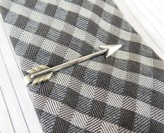 Arrow Tie Bar- Sterling Silver & Antiqued Brass Finishes- Gifts For Men- Groomsmen Gifts on Etsy, $22.00