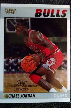 c72db965249 1997-98 Fleer Decade of Excellence  5 Michael Jordan Team  Chicago Bulls