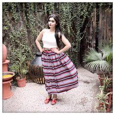 Front-button skirt, vintage fashion