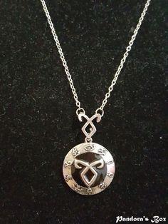 Shadowhunter Rune Pendant Necklace City of Bones The Mortal Instruments Jewelry