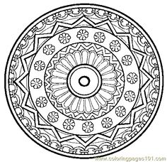 Coloring Pages Spectacular Mandala Online