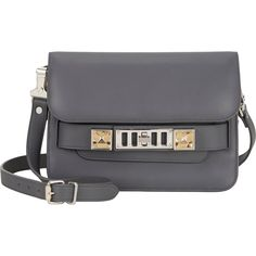 Proenza Schouler PS11 Mini Classic ($1,009) ❤ liked on Polyvore featuring bags, handbags, grey, grey purse, strap bag, proenza schouler bag, gray purse and proenza schouler purse