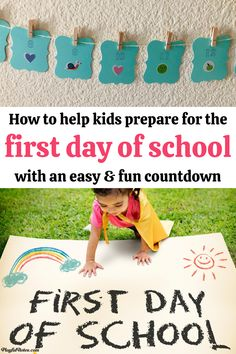 The first day of school is an important milestone for every child! Help your child prepare for school with an easy and fun idea: a countdown to the first day of school!   - Back to school ideas | How to prepare for kindergarten | Parenting tips Preschool Activities At Home, Indoor Activities For Kids, Children Activities, Gentle Parenting, Kids And Parenting, Parenting Hacks, Child Help, School Countdown, Raising Kids