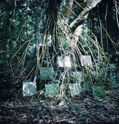 "contemporary-art-blog: "" Robert Smithson, Yucatan Mirror Displacements, 1-9, 1969 """