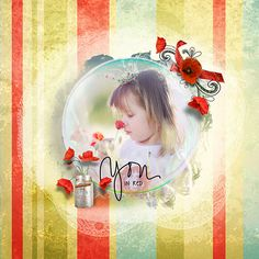 @pickleberrypop  pompous poppies   kit for digiscrapbook  created by @janasslovackova
