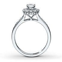 1 1/8 ct tw Diamond Bridal Set Round-Cut 14K White Gold