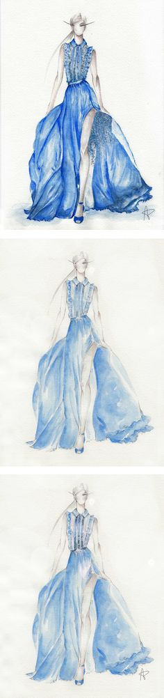 Fashion illustration by Andrea Perkov