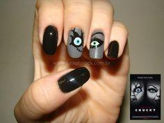 Nail Art Halloween - Especial Filmes de Terror: A Noiva de Chucky