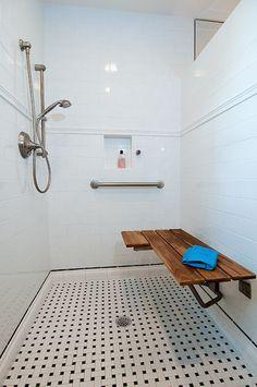 Bigger Tiles:  ADA Bathroom Remodel - traditional - bathroom - houston - Greymark Construction Company