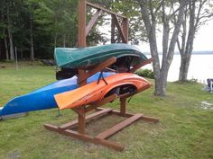 Kayak rack stained