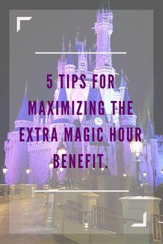 Insider tips for maximizing Disney's Extra Magic Hour Benefit (scheduled via http://www.tailwindapp.com?utm_source=pinterest&utm_medium=twpin&utm_content=post145219749&utm_campaign=scheduler_attribution)