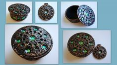 A lovely example of the 'Holo Effect' technique.   Tutorial written by Ginger Davis Allman from the Blue Bottle Tree. This Polymer Clay box with Holo Effect insets made by Carrie Harvey.