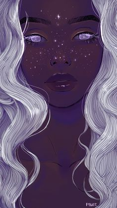 Finden Sie Bilder und Videos zu Kunst, Sternen und Galaxien a. Shared by Demet. Find pictures and videos about art, stars and galaxies on We Heart It - the app that lets you Art Inspo, Kunst Inspo, Inspiration Art, Art And Illustration, Illustrations, Arte Dope, Dope Art, Black Girl Art, Black Art