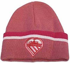 Dark Pink Bronx Hat with Heart United Manchester Shield