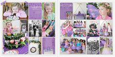birthday PL spread (fairy party!)