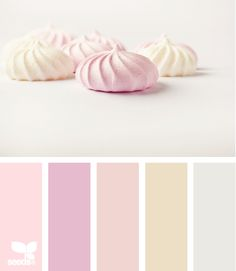 Whimsical candy themed color design wedding inspiration palette in shades of pink.