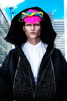 Jakub Nowocien Rocks Colored Hair for LOfficiel Hommes China