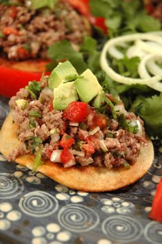Carne Apache Tostadas Authentic Mexican Recipe - I need to try this!! Another Powell non-heating food
