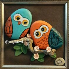 Pebble Painting, Pebble Art, Stone Painting, Stone Crafts, Rock Crafts, Arts And Crafts, Owl Pictures, Stone Pictures, Pebble Stone
