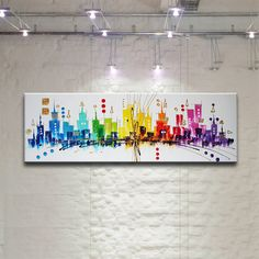 Check out our acrylic selection for the very best in unique or custom, handmade pieces from our shops. Abstract Canvas, Canvas Art, Skyline, Art Moderne, Art Abstrait, Cultura Pop, Modern Art, Projects To Try, Photo Wall