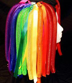 Cyber Falls - Karma - Rainbow Cyberlox Cyber Falls Hair Accessories $50.00