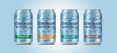Packaging design for Coronado Brewing by MiresBall. MiresBall is featured in issue on of Visual Thinker Magazine, a free digital magazine for creatives. Label Design, Packaging Design, Coronado Brewing, Packaging Solutions, Digital Magazine, Brewing Co, Bottle Design, Brewery, Canning
