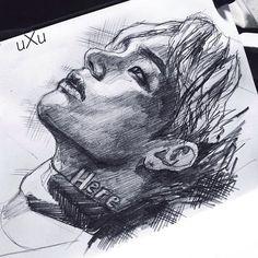 Ok what song are you looking forward the most? I'm dying to listen to Lie and Awake . I don't know what is more mainstream: this photo or a decision to draw it hehe . . . . . . . . . . . . . . . #bts#btsfanart#bangtan#bangtanboys#kimtaehyung#wings#kpop#korea#korea#selca#방탄소년단#김태형#셀카#illustration#sketchbook#sketch#pencil#inktober#portrait#jeonjungkook#parkjimin#junghoseok#minyoongi#kimseokjin#kimnamjoon#jungkook#taehyung#jhope#suga#rapmonster