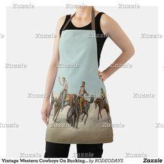Western Kitchen Decor, Summer Bbq, Western Cowboy, Cowboys, Vintage Shops, Westerns, Apron, Cool Designs, Shopping