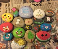 Pokémon painted rocks