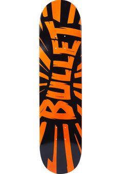 Bullet Shrapnel, Deck, black-orange Titus Titus Skateshop #Deck #Skateboard #titus #titusskateshop