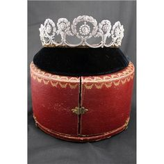 RoyalDish - Tiara - page 135 Cartier diamond tiara with its fitted case.