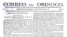 El 27 de junio de 1818, el libertador Simón Bolívar fundó el Correo del Orinoco, un diario que transmitía su sed de independencia y su ideología revolucionaria.