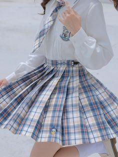 Harajuku Fashion, Kawaii Fashion, Cute Fashion, Fashion Outfits, Pretty Outfits, Cute Outfits, School Uniform Outfits, School Uniforms, Vetements Clothing