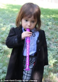 A Who's Who of Doctor Who: Adorable little girl insists on dressing as 11 different Time Lords for family Halloween photo shoot. Katie dressed as Patrick Troughton