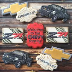 """Sarah's Cookie Jar: """"Everyone loves a new car - especially when it is accompanied with celebratory cookies! #decoratedcookies #customcookies #royalicing #truckcookies…"""""""